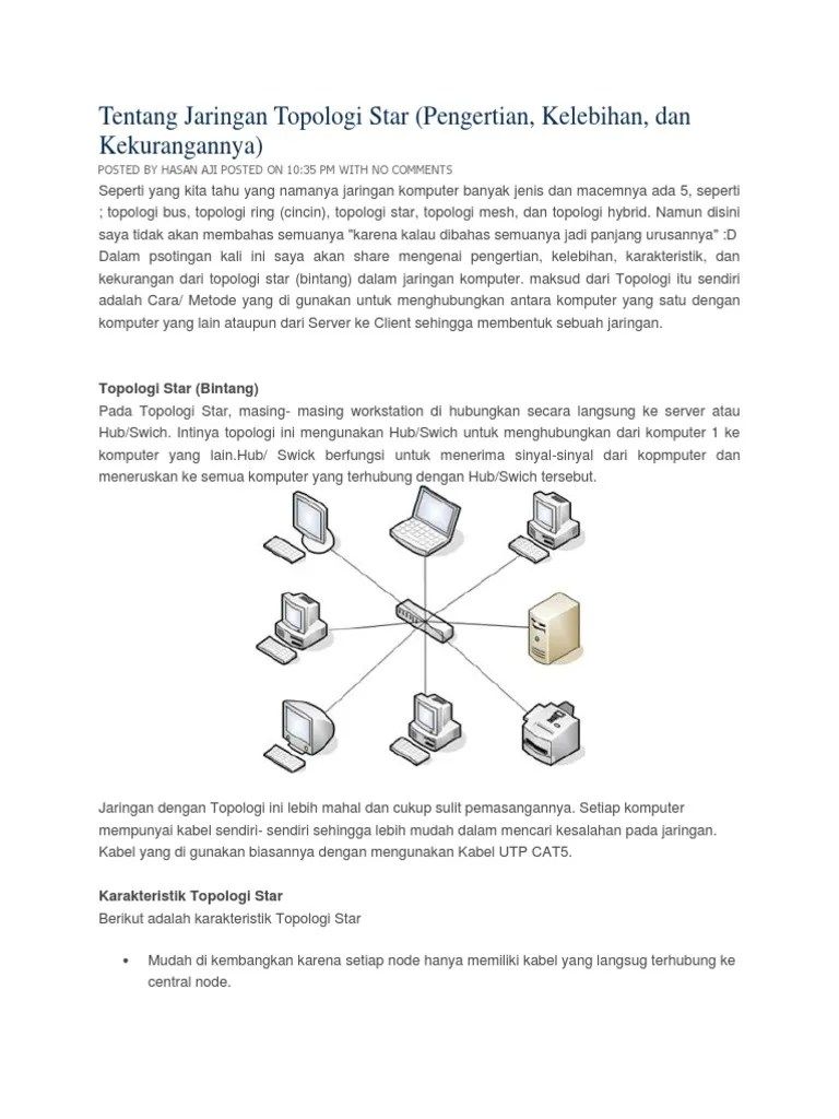 Perbedaan Topologi Bus Dan Star : perbedaan, topologi, Jenis, Topologi, Setiap, Workstationnya, Dihubungkan, Langsung, Server, Disebut, Sebutkan