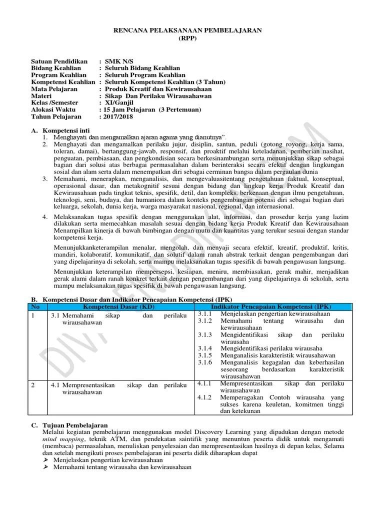 Rpp Prakarya Dan Kewirausahaan Smk Kelas Xii Kurikulum 2013 : prakarya, kewirausahaan, kelas, kurikulum, Modul, Produk, Kreatif, Kewirausahaan, Revisi, Sekolah