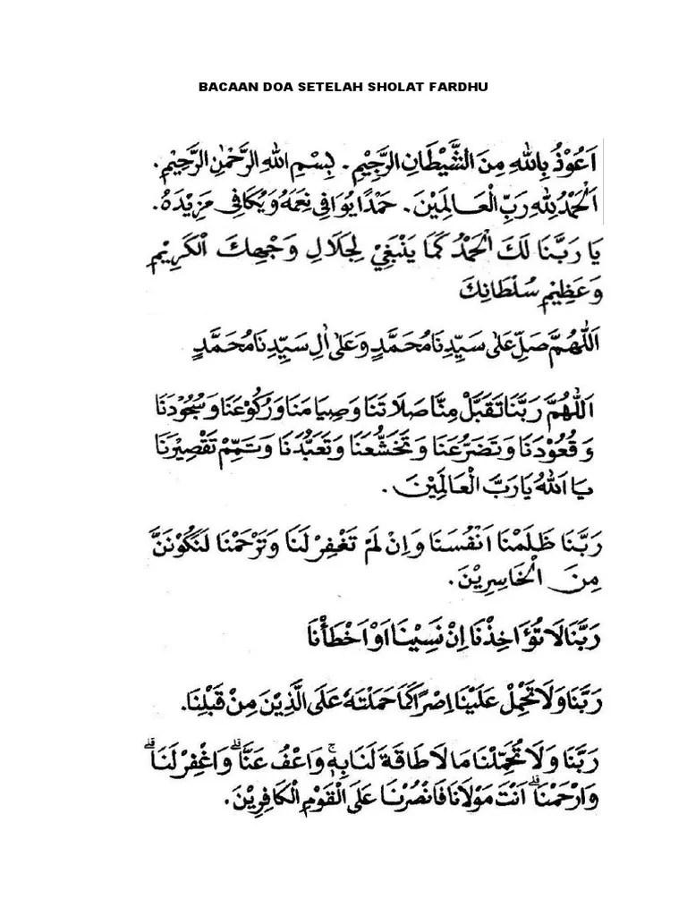 Doa Setelah Sholat Fardhu Pdf : setelah, sholat, fardhu, Bacaan, Setelah, Sholat, Fardhu