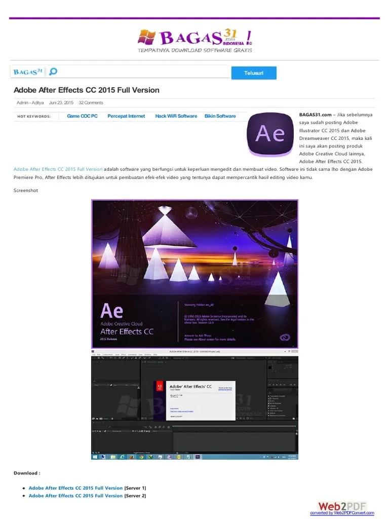 After Effect Bagas : after, effect, bagas, Bagas31, Adobe, Illustrator