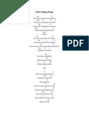 Chord Wali Takan Pisah : chord, takan, pisah, Chord, Takkan, Pisah