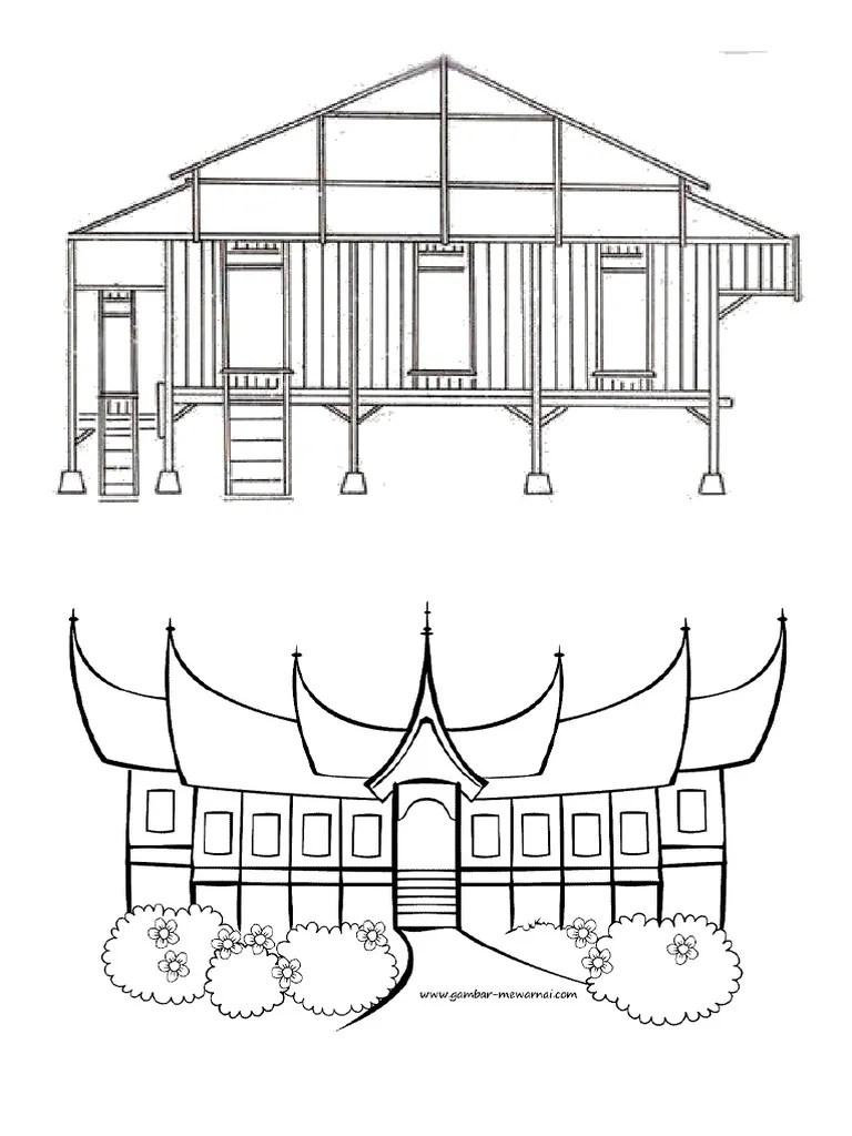 Mewarnai Rumah Adat Bali : mewarnai, rumah, Koleksi, Gambar, Rumah, Mewarnai, Terbaru