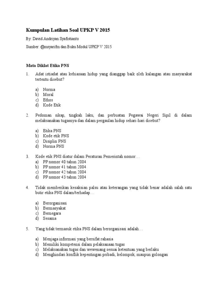 Contoh Soal Uji Kompetensi Jabatan Struktural Berbagi Struktur Cute766