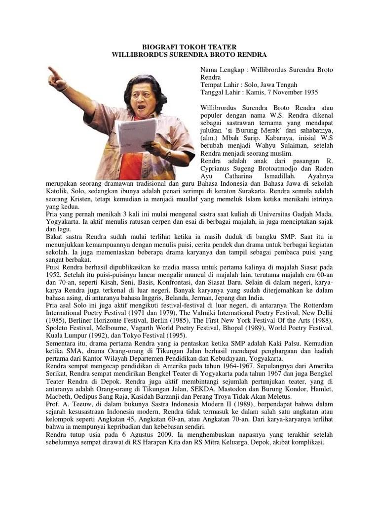Tokoh Teater Terkenal Di Dunia : tokoh, teater, terkenal, dunia, Biografi, Tokoh, Teater