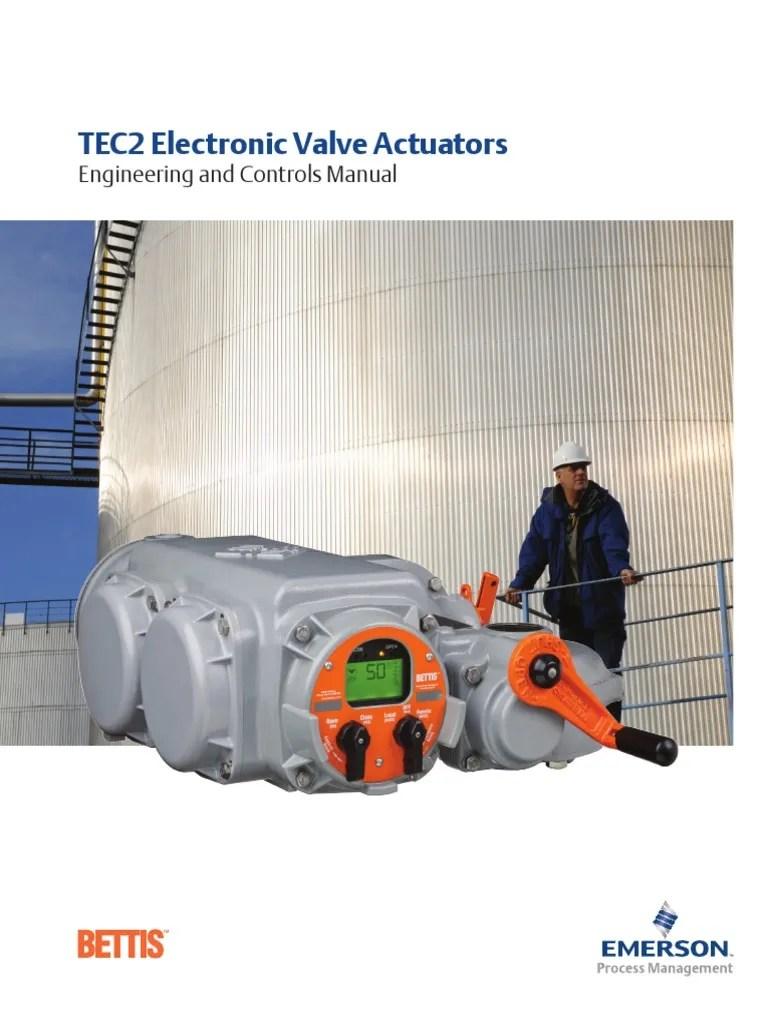 medium resolution of tec2 electronic valve actuators engineering controls manual us en 86518 relay power supply