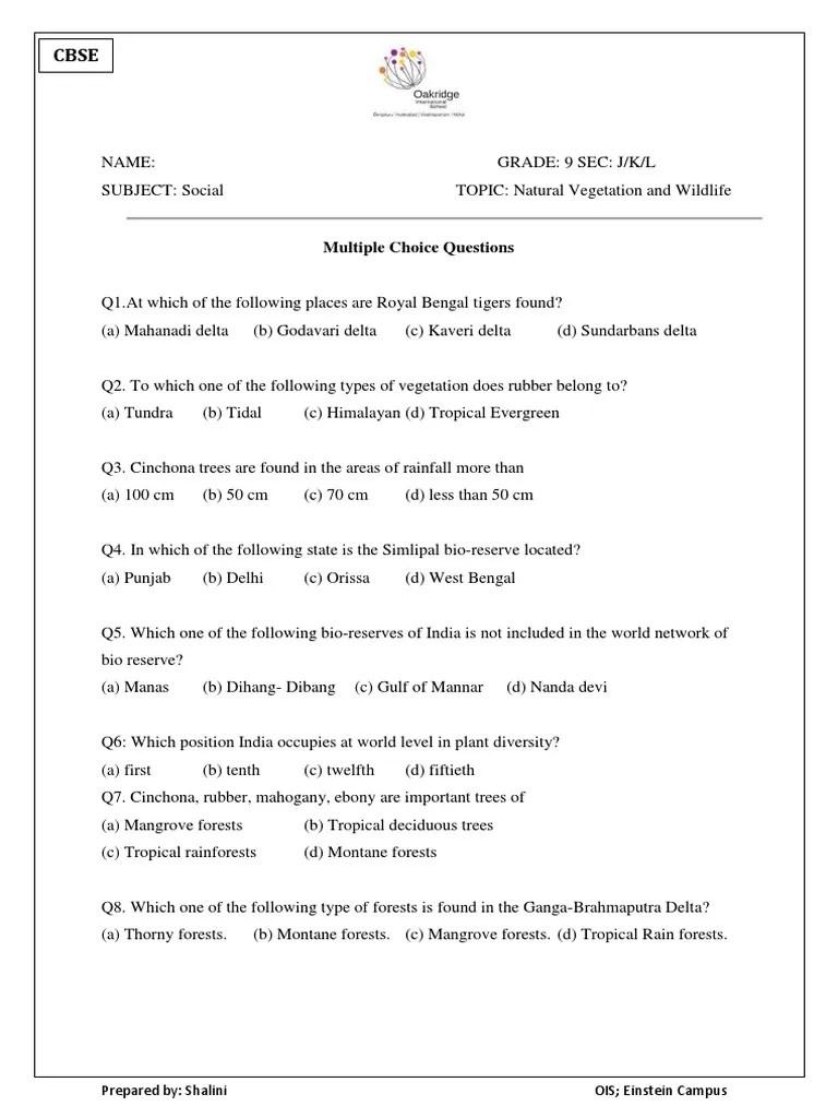 Worksheet on Natural Vegetation and Wildlife   Mangrove   Forests [ 1024 x 768 Pixel ]