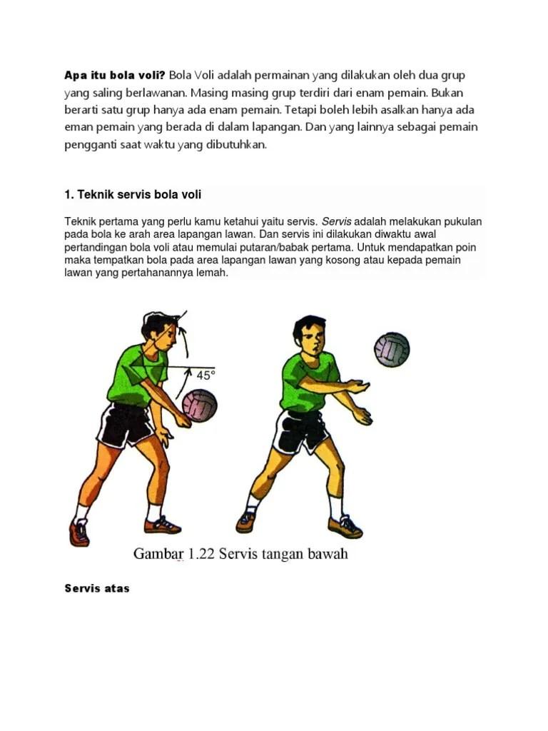 Servis Dalam Bola Voli : servis, dalam, Teknik, Servis