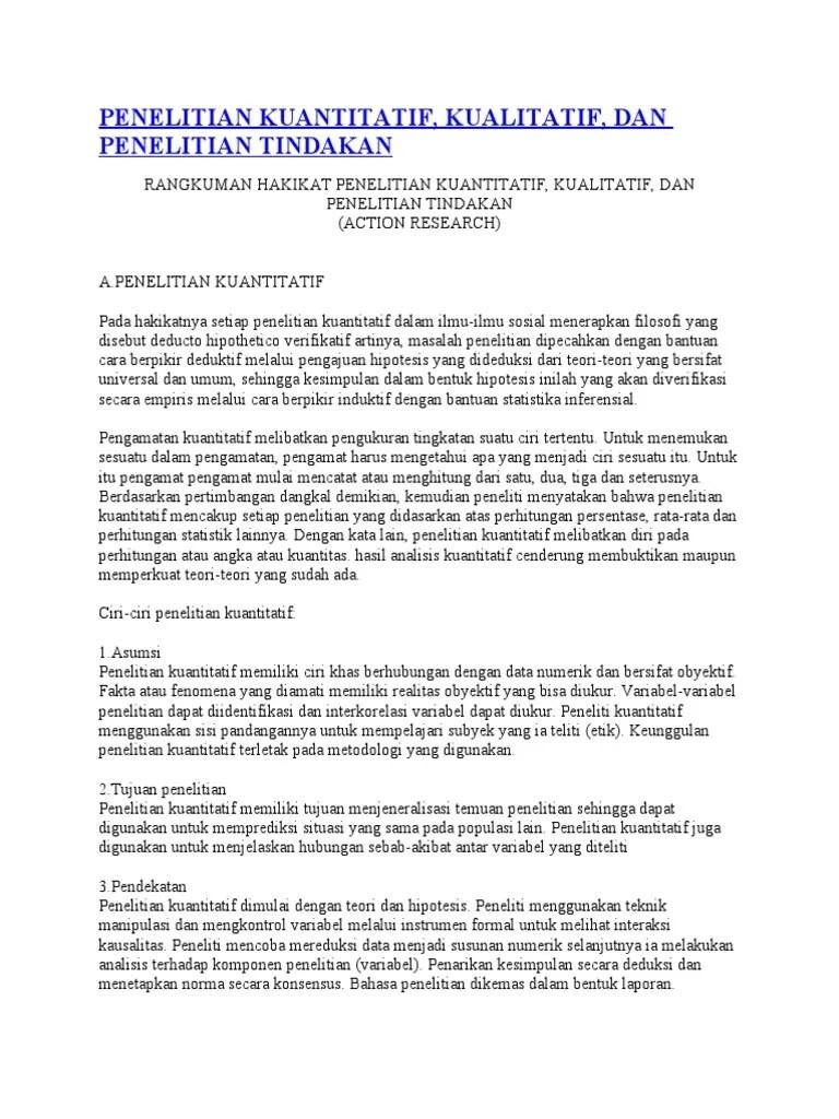 CIRI PENELITIAN KUANTITATIF | VARIYAKA Blog
