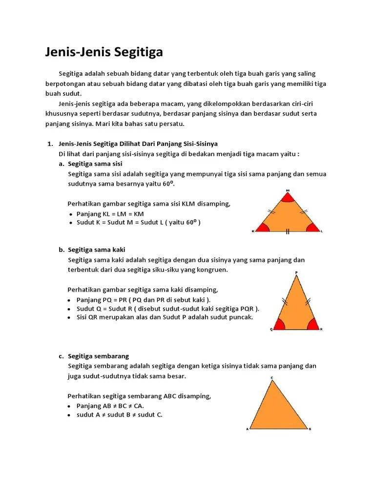 Ciri Ciri Segitiga Sama Sisi : segitiga, Gambar, Segitiga, Adalah