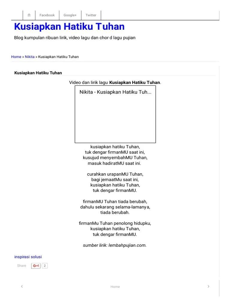 Kusiapkan Hatiku Tuhan : kusiapkan, hatiku, tuhan, Kusiapkan, Hatiku, Tuhan.pdf