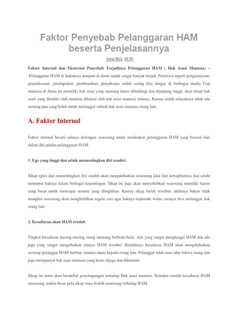 Faktor Eksternal Pelanggaran Ham : faktor, eksternal, pelanggaran, Proposal, Bisnis