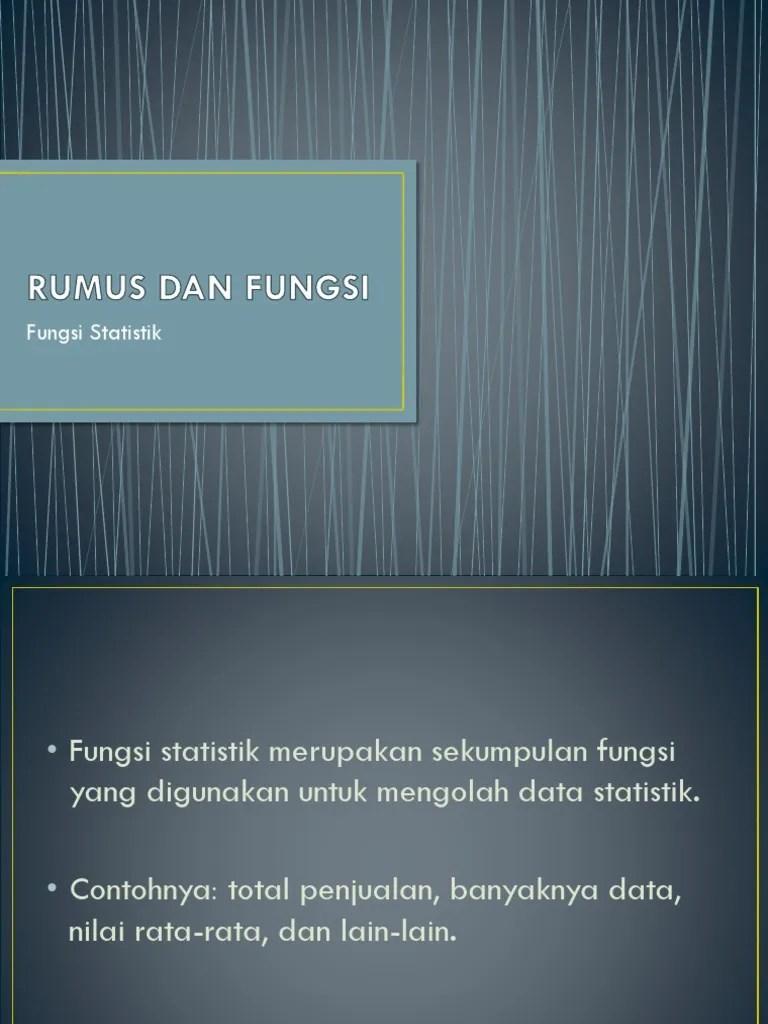 Rumus Fungsi Statistik : rumus, fungsi, statistik, RUMUS, FUNGSI, Statistik.pptx