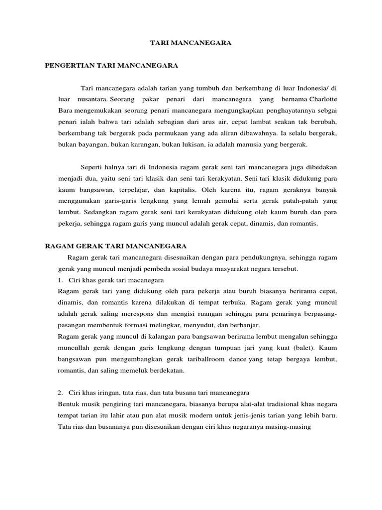 Pengertian Seni Tari Mancanegara : pengertian, mancanegara, MANCANEGARA, LIZA.docx