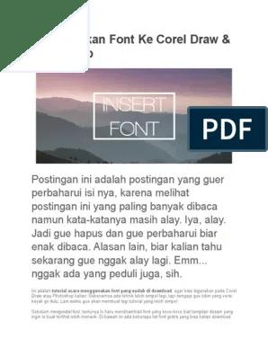 Cara Memasukkan Font Ke Corel : memasukkan, corel, Memasukkan, Corel, Photoshop:, Comments