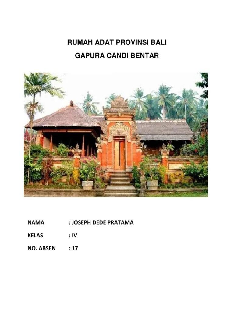 Rumah Adat Bali Gapura Candi Bentar : rumah, gapura, candi, bentar, Gambar, Rumah, Gapura, Candi, Bentar, Terbaru