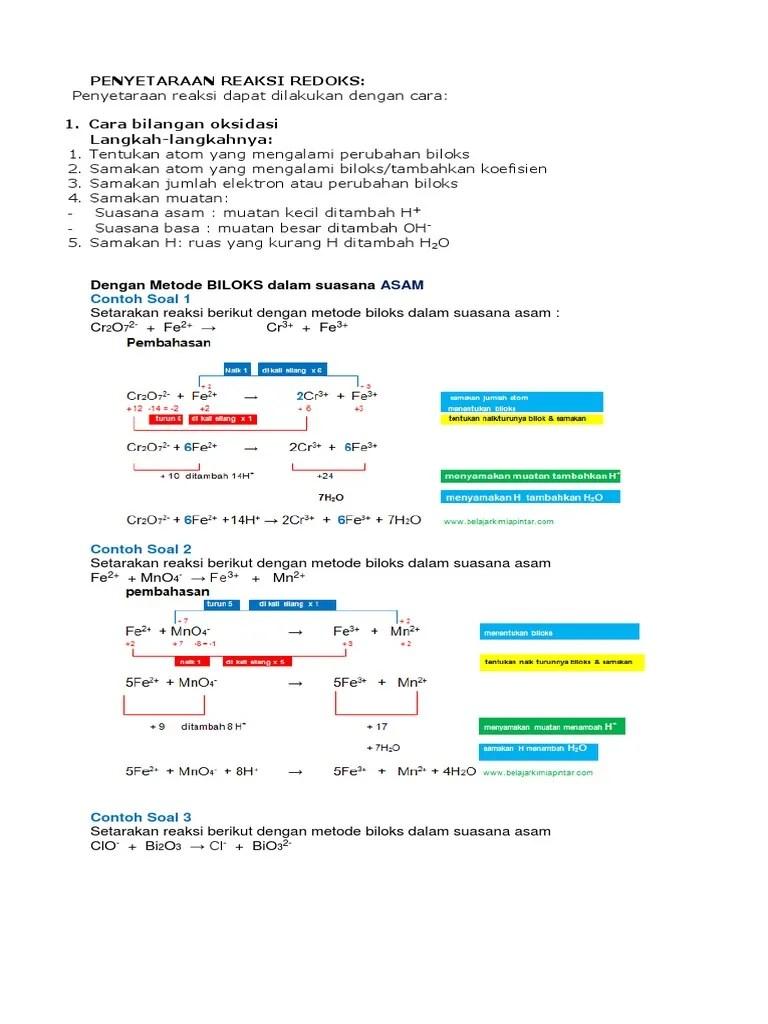 Metode Setengah Reaksi : metode, setengah, reaksi, Contoh, Jawaban, Penyetaraan, Reaksi, Redoks, Suasana, IlmuSosial.id