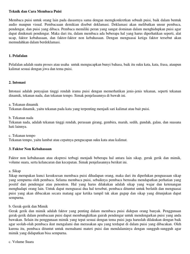 Cara Membaca Puisi Yang Baik : membaca, puisi, Membaca, Puisi, Benar, Menarik, Pentas, Bahasa, Cute766