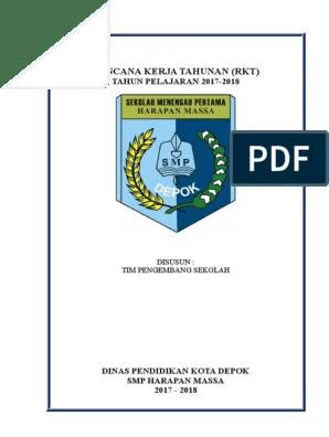 Contoh Rencana Kerja Tahunan/ RKT SMP Excel - Bukti Fisik