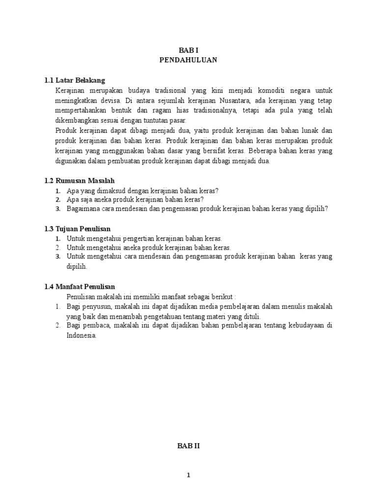 Makalah Kerajinan Bahan Keras : makalah, kerajinan, bahan, keras, Makalah, Prakarya2, Kelas