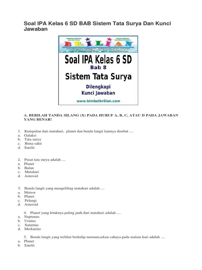 Sistem Tata Surya Kelas 6 : sistem, surya, kelas, Materi, Surya, Kelas, Sosial, Cute766