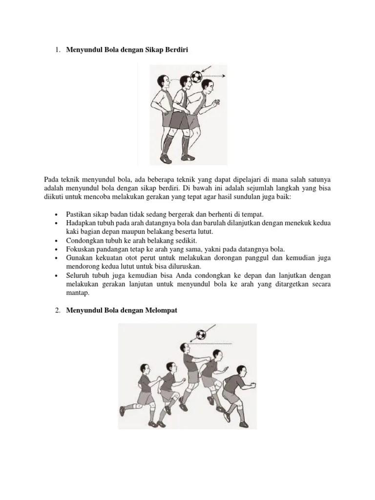 Gerakan Menyundul Bola : gerakan, menyundul, Menyundul
