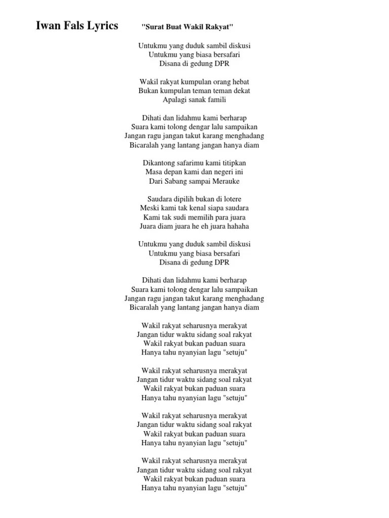 Chord Surat Buat Wakil Rakyat : chord, surat, wakil, rakyat, Chord, Lirik, Surat, Wakil, Rakyat, Arsia