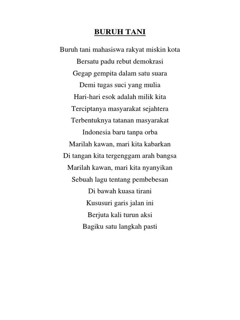 Lirik Lagu Buruh Tani by Marjinal Predator Lyric