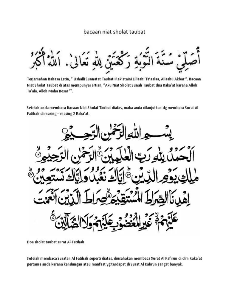 Sholat Taubat Nasuha, Tata Cara, Waktu, Niat dan Doanya