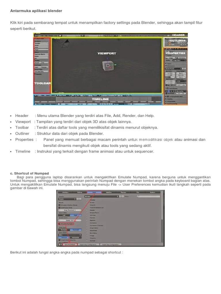 Fitur Aplikasi Blender : fitur, aplikasi, blender, Antarmuka, Aplikasi, Blender.docx