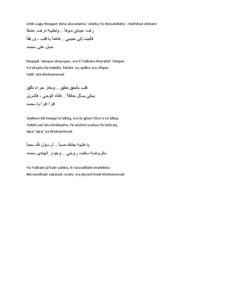 Download Lagu Roqqota Aina Sabyan [MP3 / Video MP4] - MP3PAW
