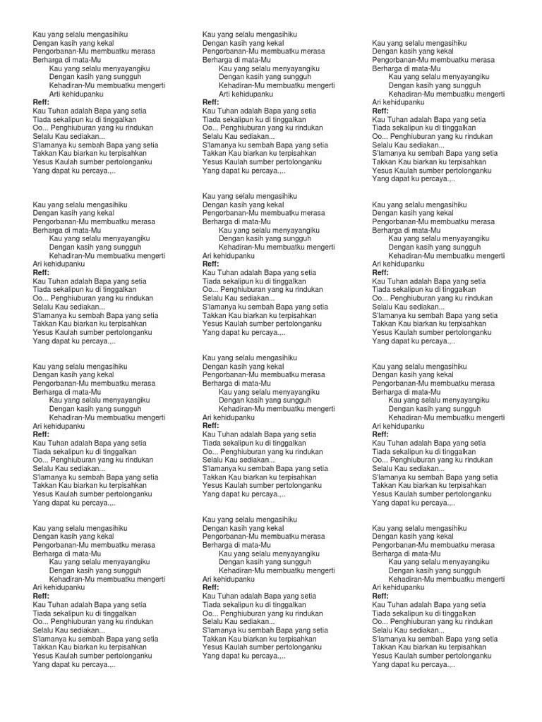 Bapa Yang Setia Lirik : setia, lirik, Chord, Setia, Walls