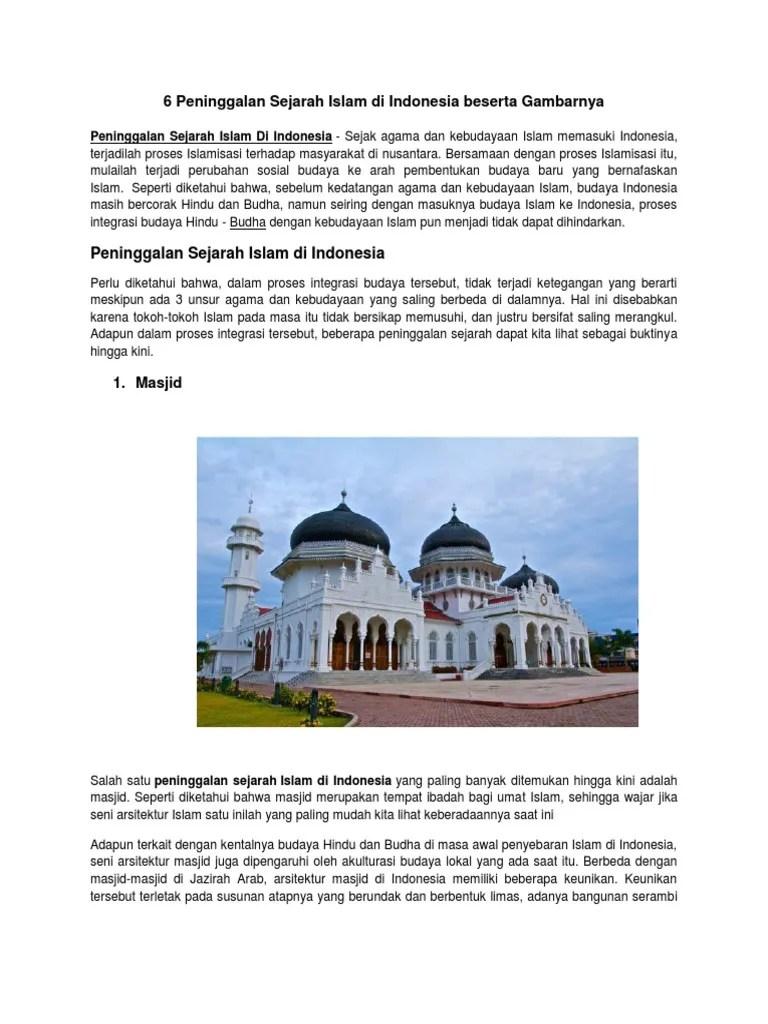 Peninggalan Kerajaan Banten Beserta Gambarnya : peninggalan, kerajaan, banten, beserta, gambarnya, Masjid, Peninggalan, Kerajaan, Islam, Indonesia, Nusagates