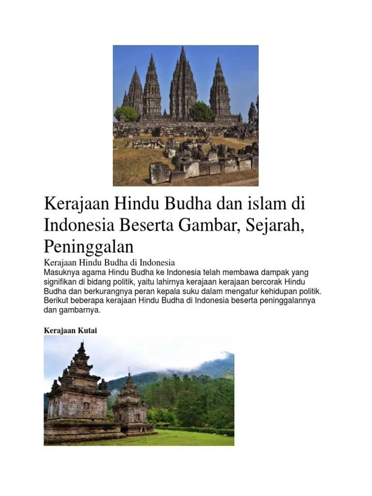 Peninggalan Kerajaan Banten Beserta Gambarnya : peninggalan, kerajaan, banten, beserta, gambarnya, Kerajaan, Hindu, Budha, Islam, Indonesia, Beserta, Gambar
