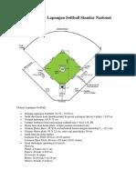 Luas Lapangan Softball : lapangan, softball, Gambar, Ukuran, Lapangan, Softball, Standar, Nasional, Internasional
