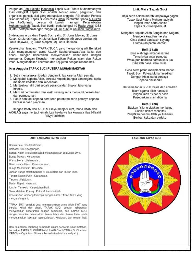 Arti Lambang Tapak Suci : lambang, tapak, MATERI.docx