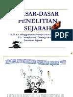 Dasar Penelitian Sejarah : dasar, penelitian, sejarah, DASAR-DASAR, PENELITIAN, SEJARAH.ppt