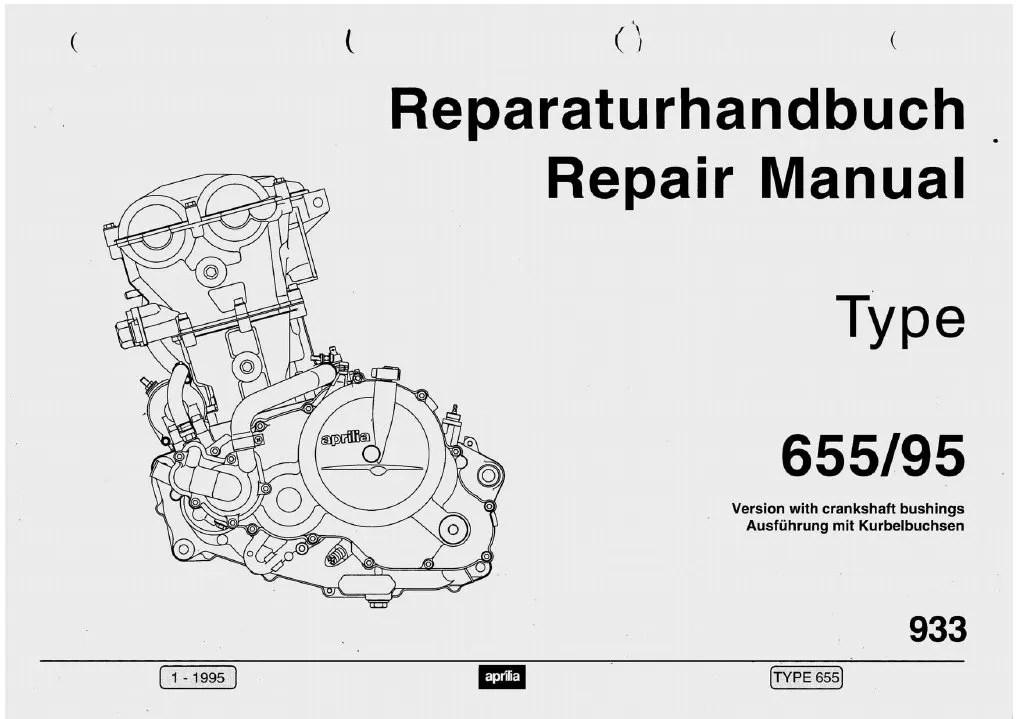 Reparaturshandbuch Aprilia Pegaso 655 Ab 95 Mehrsprachig