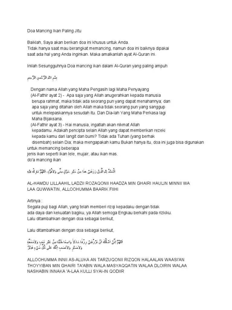 Doa Untuk Mancing : untuk, mancing, Mancing, Paling, Jitu.pdf