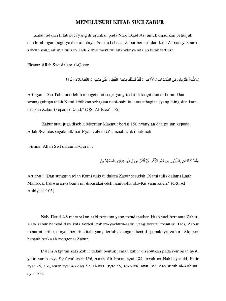 Nama Lain Kitab Zabur : kitab, zabur, Menelusuri, Kitab, Zabur
