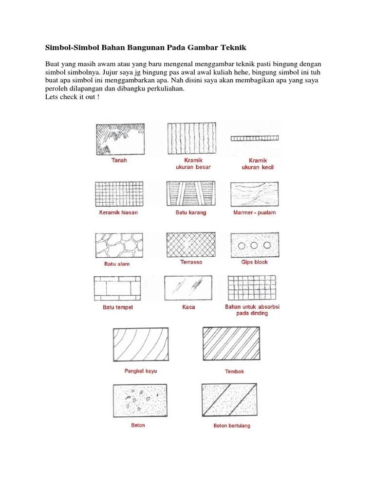 Simbol Pada Gambar Teknik : simbol, gambar, teknik, Simbol, Gambar, Teknik, Sipil