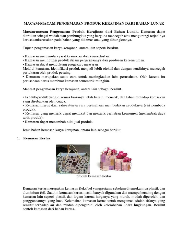 Manfaat Kemasan Produk Kerajinan : manfaat, kemasan, produk, kerajinan, Chiko