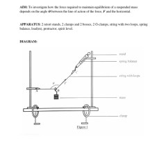 Retort Stand And Clamp Diagram Steering Wheel Parts Lab 2 Force Angle