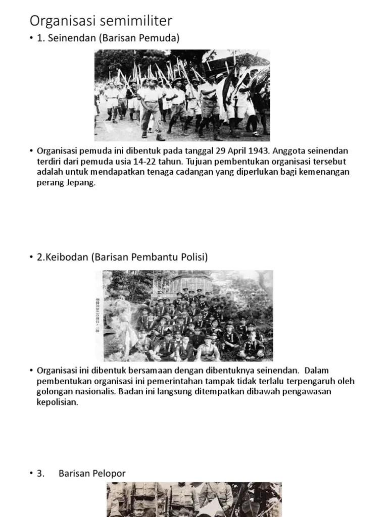 Organisasi Pembentukan Jepang : organisasi, pembentukan, jepang, Organisasi, Semimiliter