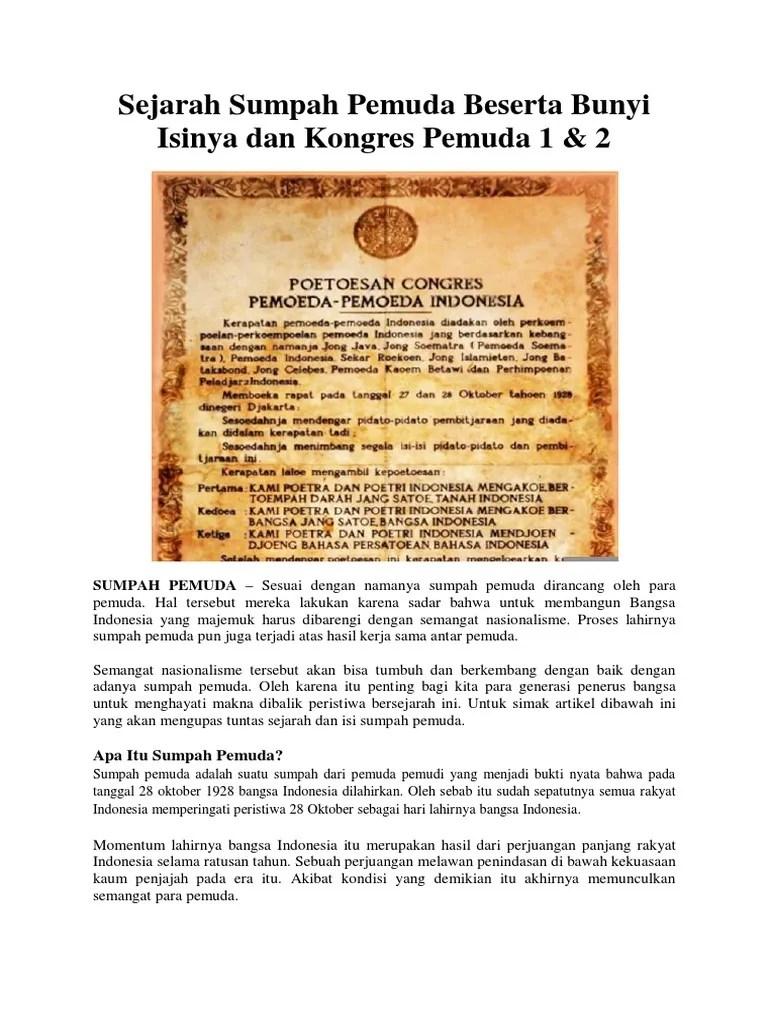 Makna Sumpah Pemuda Tanggal 28 Oktober 1928 Bagi Bangsa Indonesia Adalah : makna, sumpah, pemuda, tanggal, oktober, bangsa, indonesia, adalah, Sumpah, Pemuda, Tanggal, Oktober