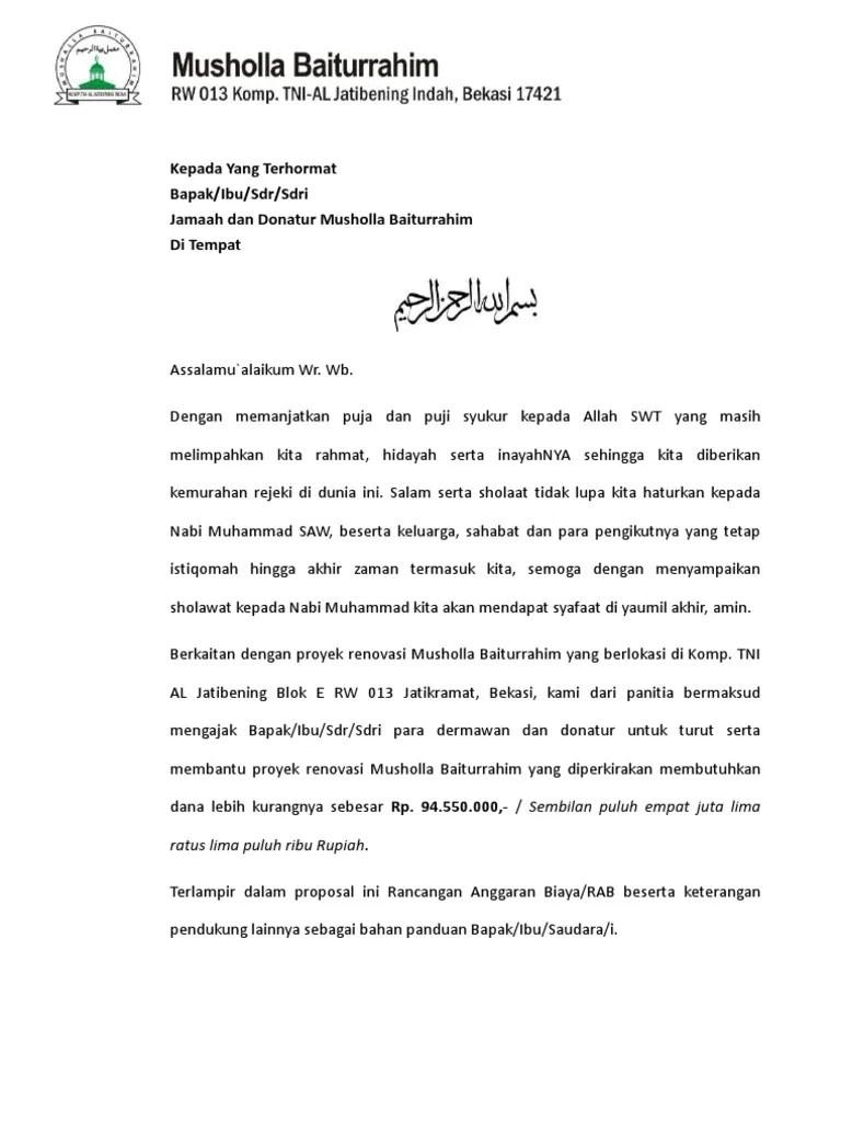 Proposal Renovasi Mushola : proposal, renovasi, mushola, Proposal, Renovasi, Musholla
