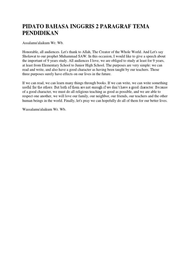 Pidato Bahasa Inggris Singkat Tentang Pendidikan : pidato, bahasa, inggris, singkat, tentang, pendidikan, Contoh, Pidato, Bahasa, Inggris, Singkat, Tentang, Pendidikan, Terkait, Cute766