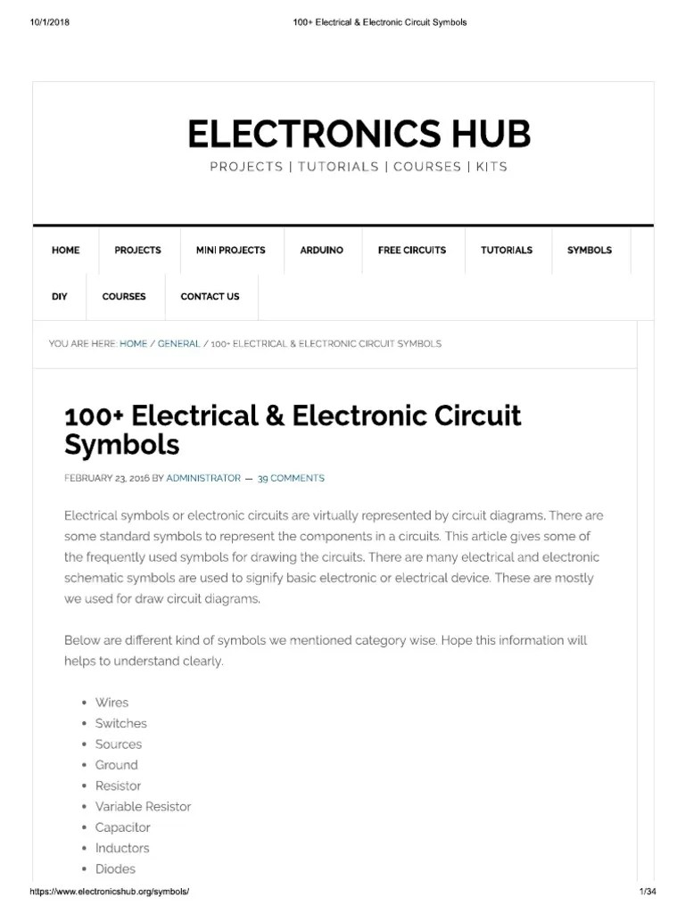 medium resolution of circuit diagram using standard circuit symbol