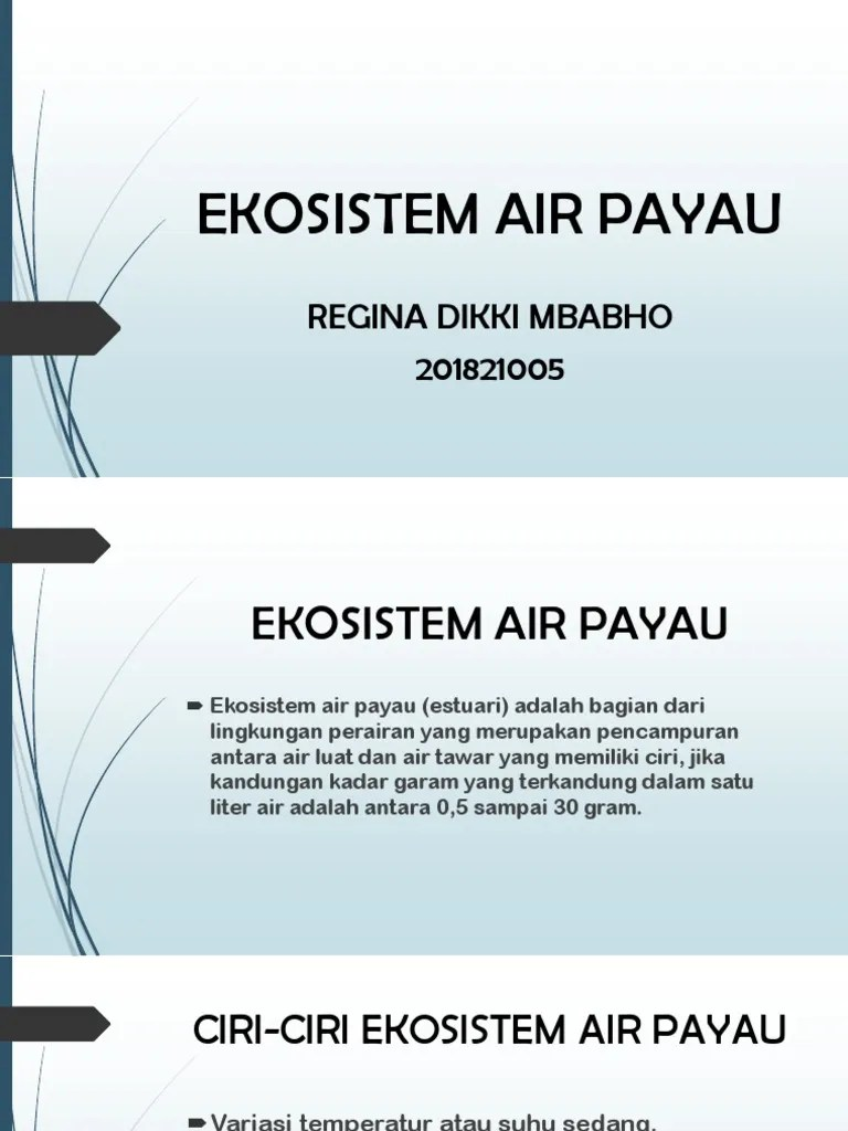 Ciri Ciri Ekosistem : ekosistem, Ekosistem, Payau, Biologi, [Autosaved]