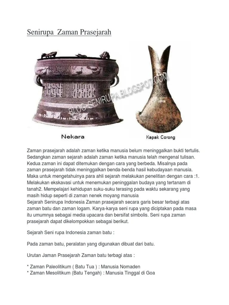 Seni Rupa Zaman Prasejarah : zaman, prasejarah, Senirupa, Zaman, Prasejarah