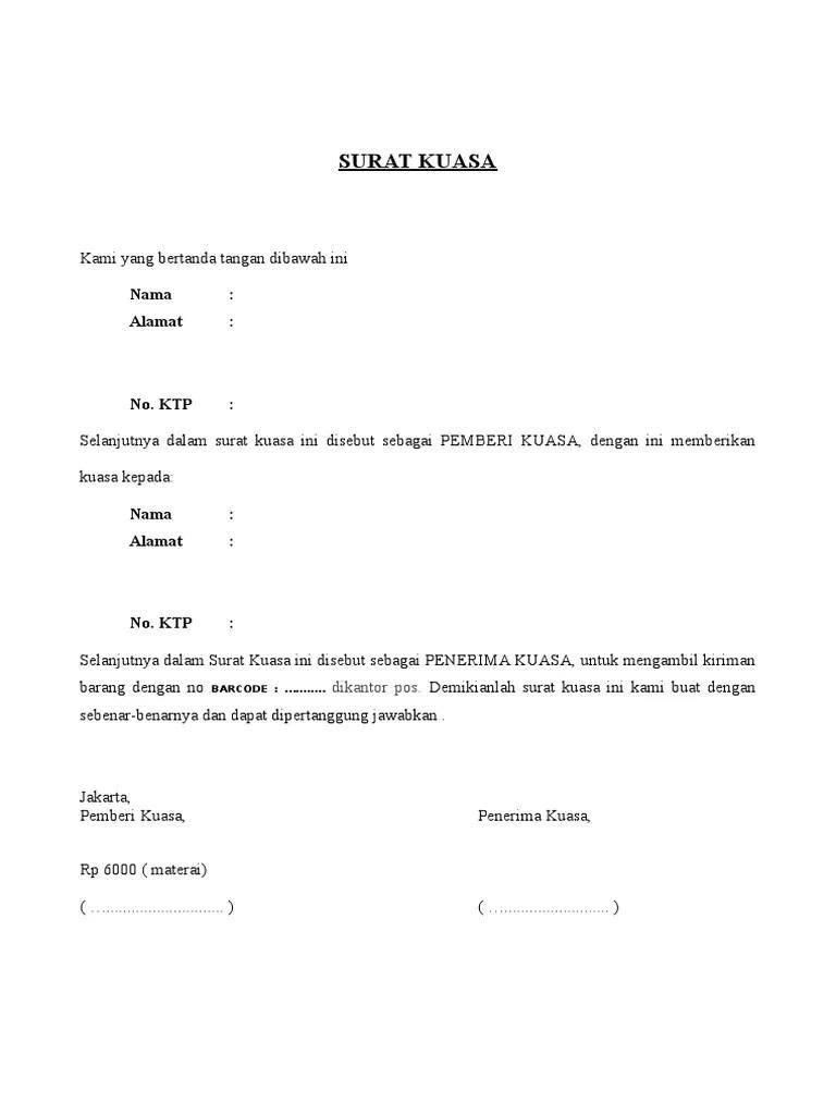Contoh Surat Pengambilan Barang : contoh, surat, pengambilan, barang, Surat, Kuasa, Pengambilan, Barang, Cute766